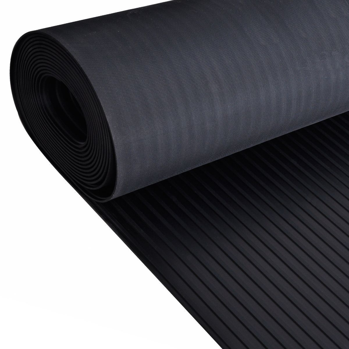 6mm Wide Ribbed Rubber Floor