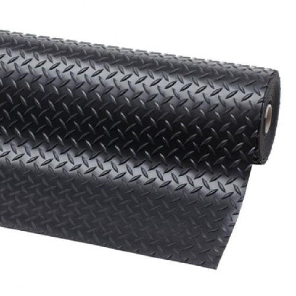 Black 1.2m /& 1.5m Wide Fine Ribbed Rubber Matting Flooring 3mm Thick Cheap