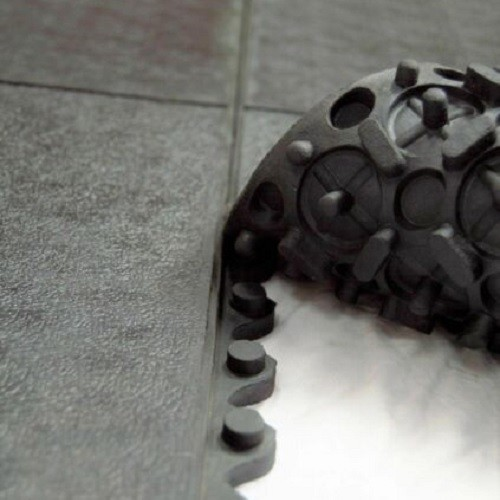 Heavy Duty 14mm Interlocking 900 x 900mm Rubber Gym Floor Tiles