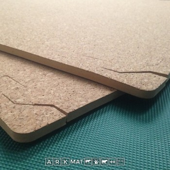 8mm Thick Cork Topped EVA Floor Tiles