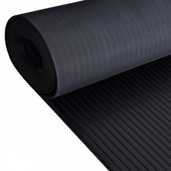 Wide Ribbed Rubber Flooring