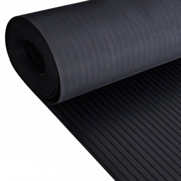 3mm Wide Ribbed Rubber Floor