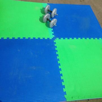 Interlocking Blue & Green Judo / Yoga Mats